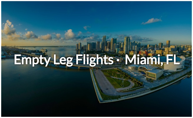 empty legs in Miami, FL